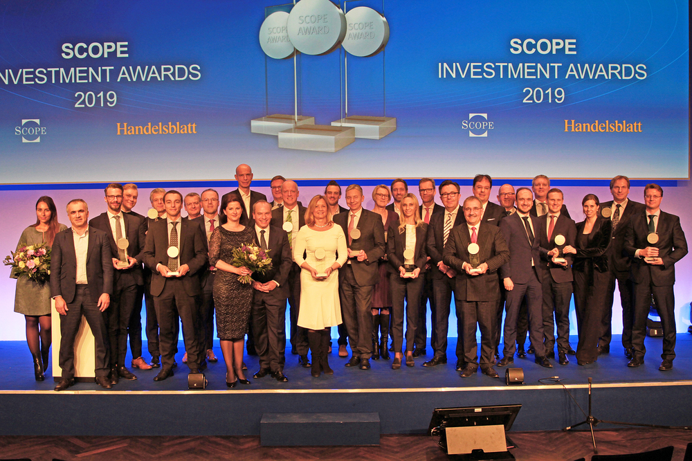The winners of the Scope Alternative Investment Awards 2019 in Berlin