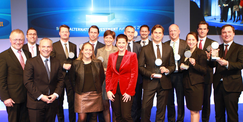 Die Gewinner der Scope Alternative Investment Awards 2018 bei der Preisverleihung am 23.11.2017 in Berlin
