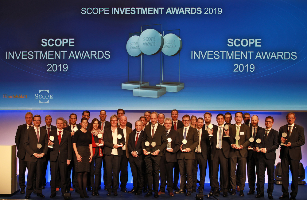 The winners of the Scope Investment Awards 2019 at the awards ceremony in Berlin on 22 November 2018